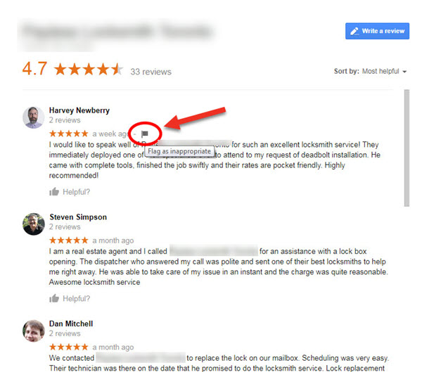 Flag the Google Review as Innappropriate - Google May Remove Your Negative Review- 8 Tips to Help
