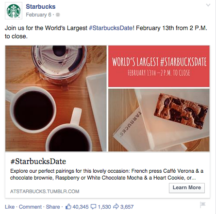 Starbucks - Facebook Advertising 101: How to Create Stellar Ads that Work
